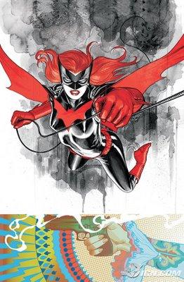 Ilustração de JH Williams III para a capa de Detective Comics #854