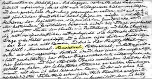 """Manuscrito de Kertbeny em que aparece, pela primeira vez, o termo """"homossexual"""""""