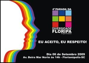 Imagem de divulgação da 4ª Parada da Diversidade de Florianópolis