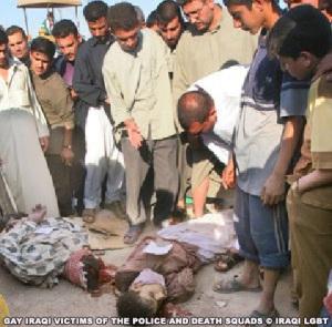"""No Iraque, uma fatwa (pronunciamento legal emitido por autoridade religiosa) diz que homossexuais devem ser mortos da """"pior forma possível"""""""