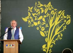 O ministro do Meio Ambiente Carlos Minc na divulgação do Zoneamento Ecológico que deu início à rusga com Puccinelli