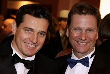 O casal Michael Mronz e Guido Westerwelle